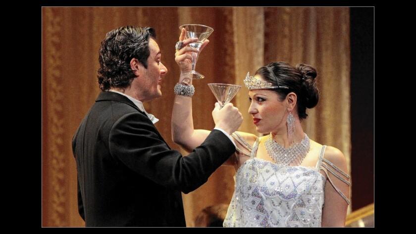 """Nino Machaidze as Violetta and Arturo Chacón-Cruz as Alfredo in L.A. Opera's """"La Traviata."""""""