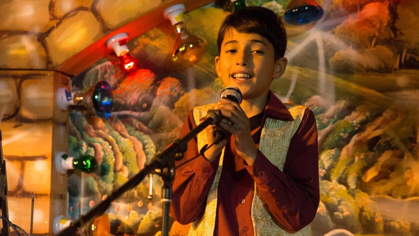 "Qais Atallah plays ""Arab Idol"" winner and singer Mohammed Assaf as a child in ""The Idol."""