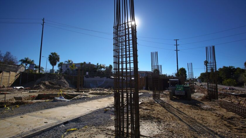 Construction for the Nimitz Crossing on Voltaire Street in Point Loma is underway that will include 24 new apartment units, including 9000 sq ft of retail space and secured parking space.