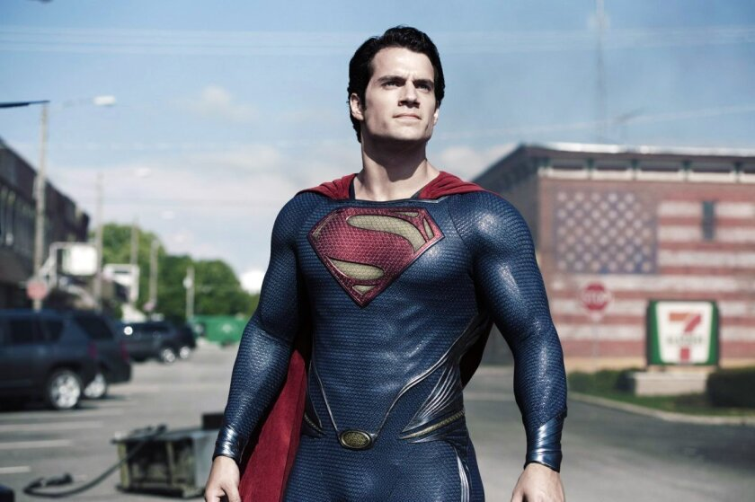 Henry Cavill as the Man of Steel.