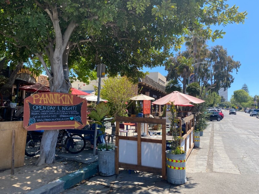 The Pannikin coffee shop in La Jolla expanded its outdoor seating options during the pandemic and renovated the interior.