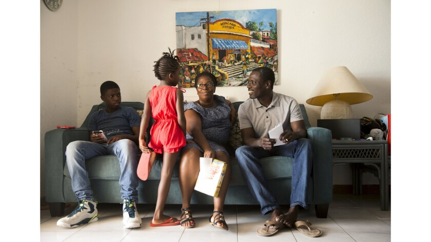 Refugees from Barbuda are being sheltered in Antigua in homes of local residents and at a cricket stadium