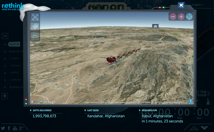 With the NORAD Santa Tracker, users can watch Old Saint Nick make his way around the world.
