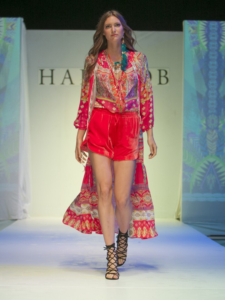 A look from the spring 2016 Hale Bob runway collection presented on Oct. 8, 2015, during Los Angeles Fashion Week.