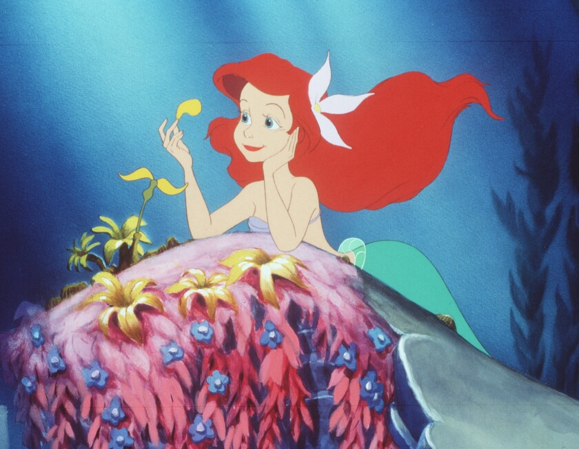 """A young mermaid named Ariel (voice of Jodi Benson) in the animated feature """"The Little Mermaid"""" (1989)"""