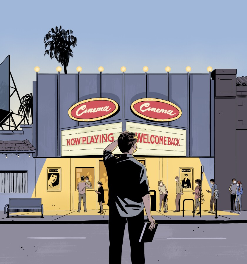 As Movie Theaters Reopen Two Film Critics Debate The Risks Los Angeles Times