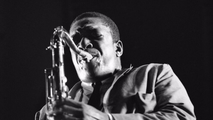 "John Coltrane featured in documentary ""Chasing Trane."" Credit: Don Schlitten"