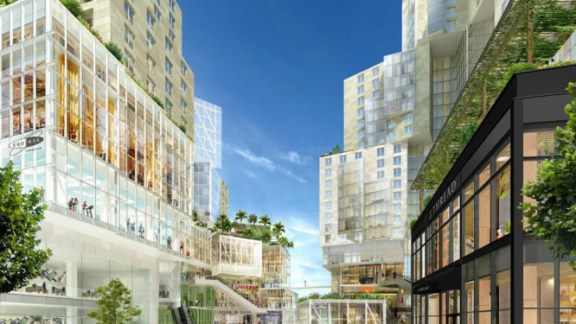 The Grand Avenue Project at Grand Avenue and 1st Street in Los Angeles. Last year, the city extended