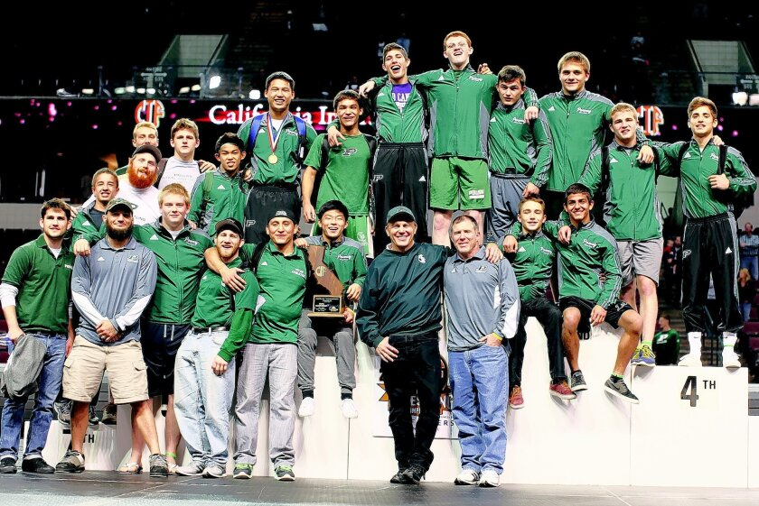 The Poway High wrestling team took second in the state after capturing every other tournament title during the season.