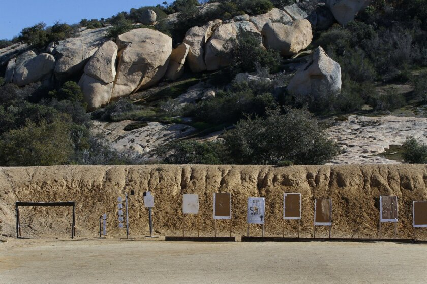 Marc Halcon, the owner of the Covert Canyon Training Center in Alpine, has built three gun ranges on the property. San Diego county recently temporarily shuttered the facility after it missed a deadline for permits and fire safety measures.