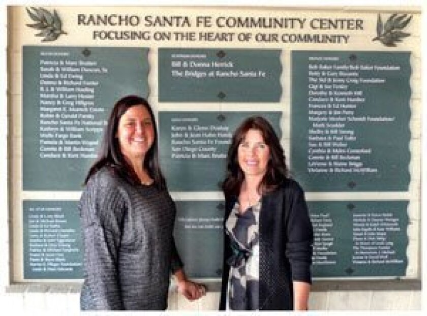 RSF Community Center Board President Molly Wohlford and Executive Director Linda Durket