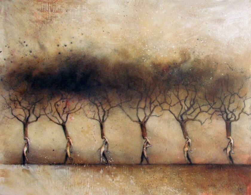 'Transitioning Tree Line' by Renzo is part of the 'Metamorphosis' exhibit Dec. 6-Jan. 31. at Monarch Arredond Contemporary.