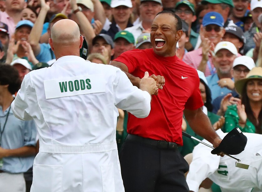 Tiger Woods wins first Masters since 2005, notching his 15th major victory
