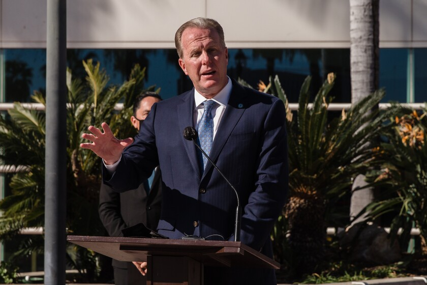 Former San Diego Mayor Kevin Faulconer says he will run for California governor.