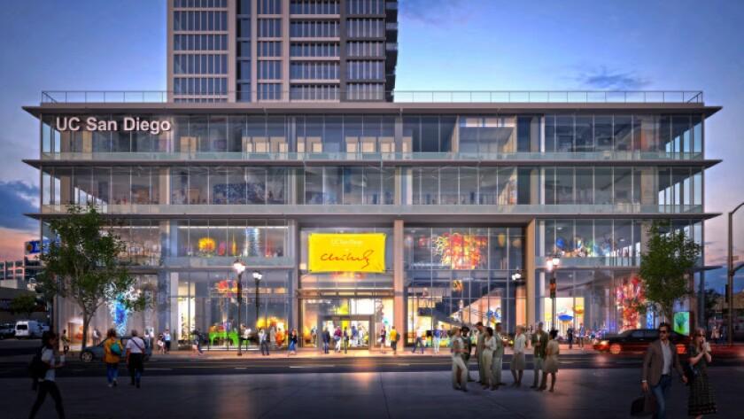 Rendition of UC San Diego @ Park & Market, the University's new building