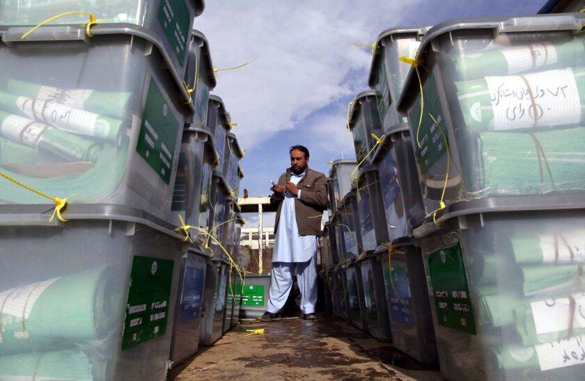 Afghan ballots transferred to Kabul