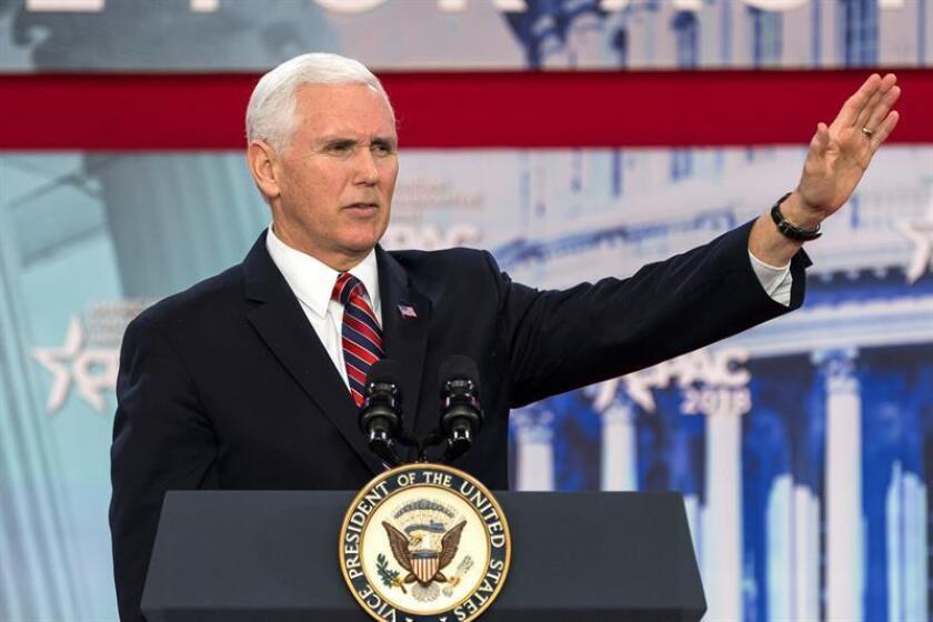 En la imagen, el vicepresidente estadounidense, Mike Pence. EFE/Archivo