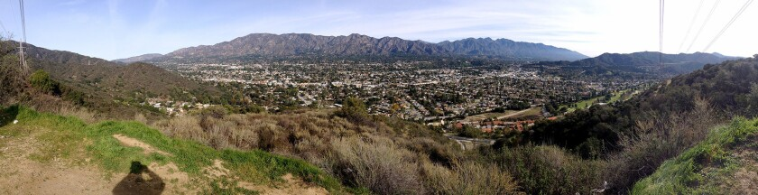 A panoramic view of Glendale, La Crescenta and the San Gabriel mountains from the Verdugo mountains in Glendale in 2013. A bill to add parts of the Rim of the Valley Corridor, which includes the Verdugos, to the Santa Monica Mountains National Recreation Area passed the U.S. House Wednesday.