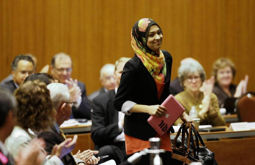 Sadia Saifuddin was named the next student regent at the UC Board of Regents meeting Wednesday in San Francisco. She said she would work to improve financial aid and the campus climate for students of all backgrounds.
