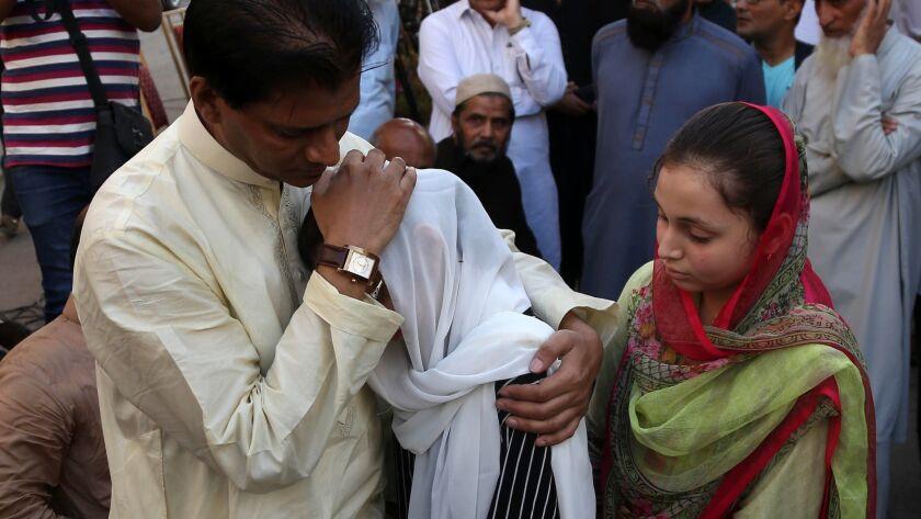 Funeral of a Pakistani victim of Texas shooting, Karachi, Pakistan - 23 May 2018