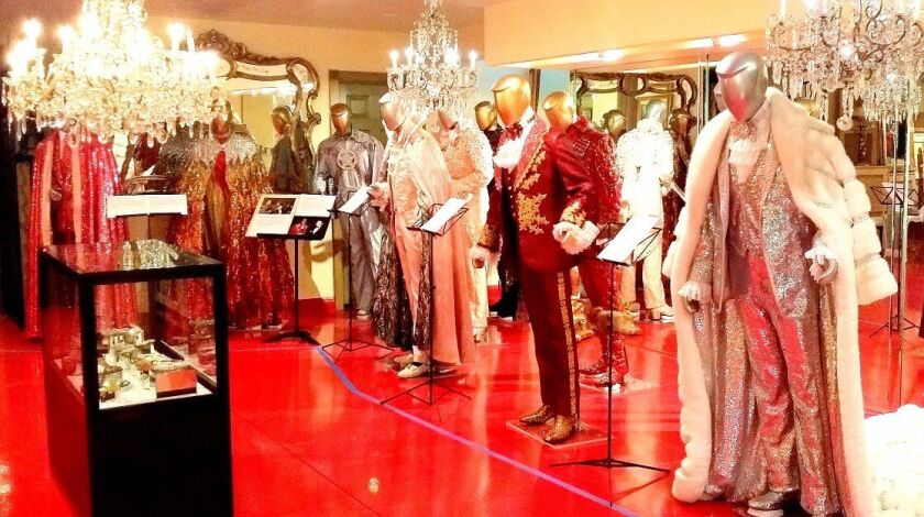 Liberace's home in Las Vegas includes, of course, a costume room