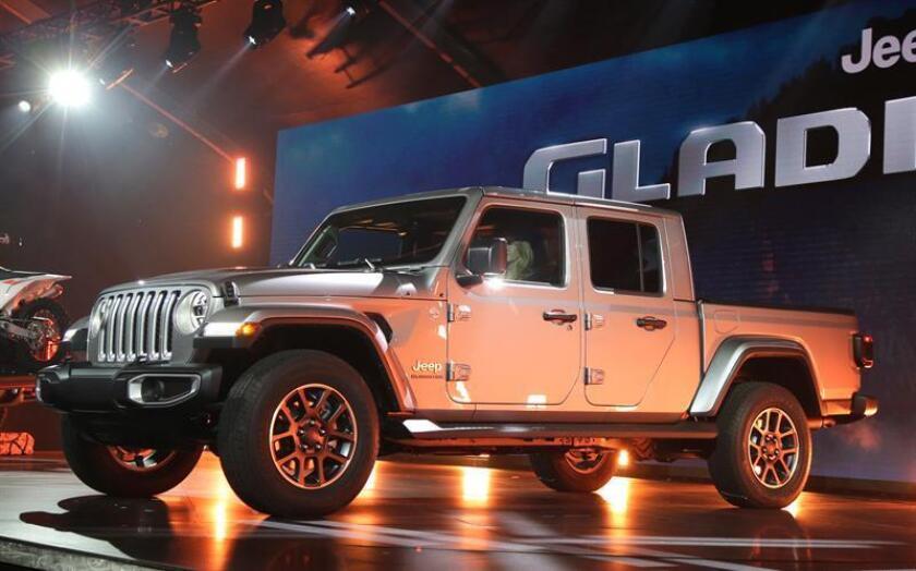 La camioneta Gladiator, de la casa Jeep, fue registrada este miércoles en el Salón del Automóvil de Los Ángeles (EE.UU.), en el Centro de Convenciones de Los Ángeles (California, EE.UU.). EFE