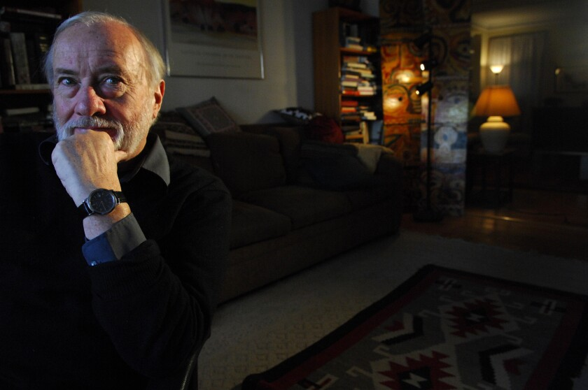 Robert Stone, who died Saturday at 77, photographed in 2007 at his Manhattan home.