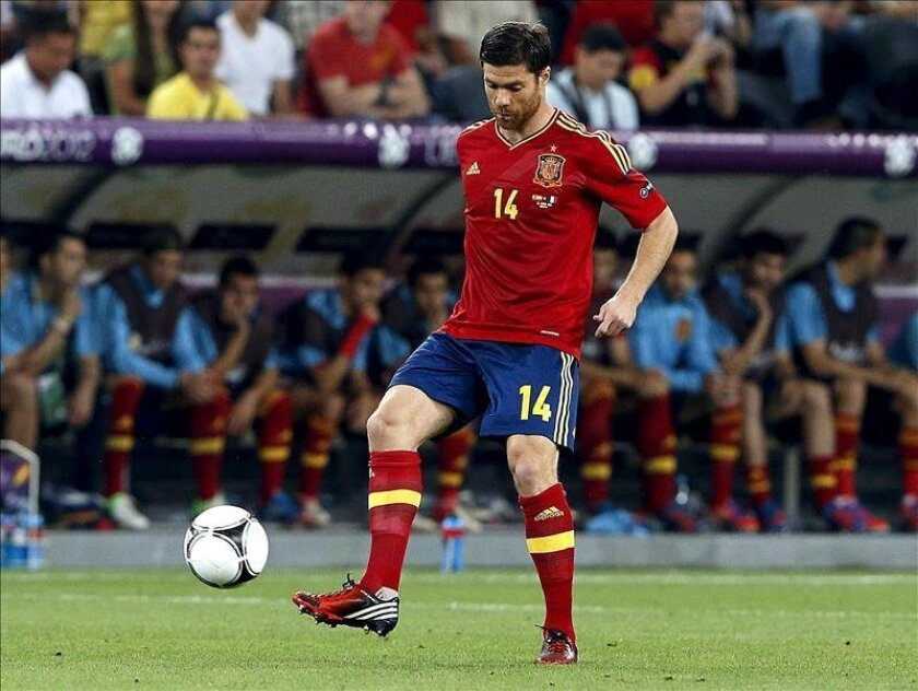 El centrocampista de la selección española, Xabi Alonso, no irá a la Copa Confederaciones. EFE/Archivo