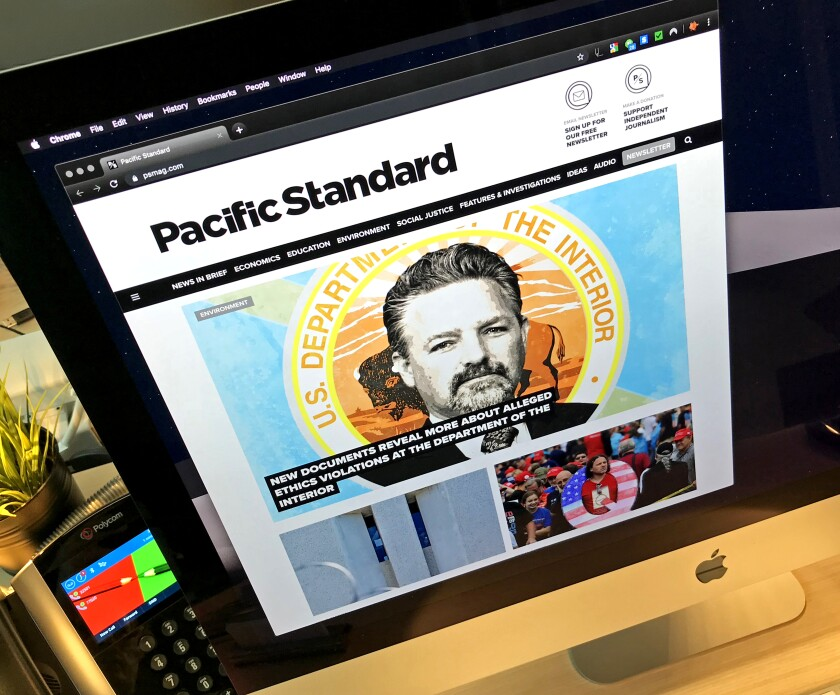 Pacific Standard magazine home page