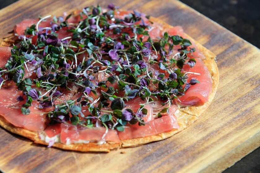 Big Eye Tuna Pizza