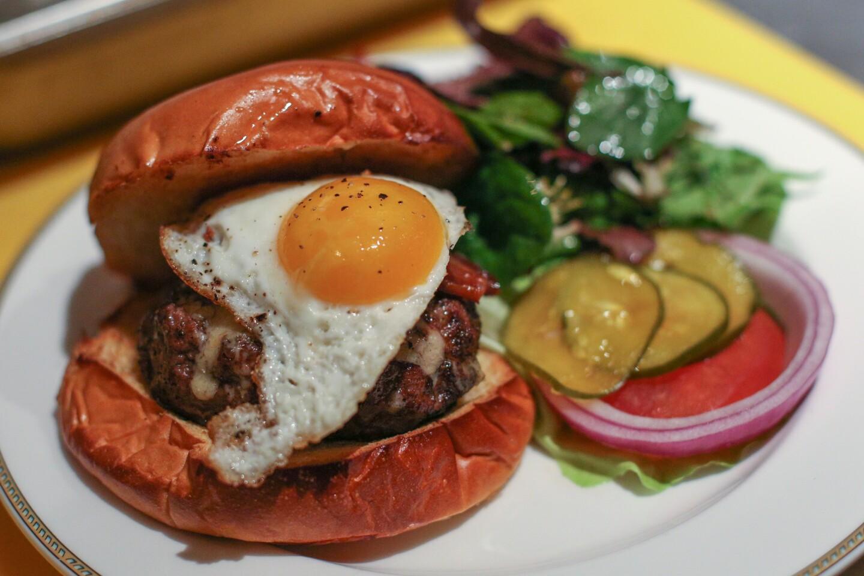 The burger at Beuchert's Saloon on Pennsylvania Avenue in Washington, D.C.