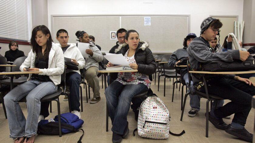 Pasadena City College students.