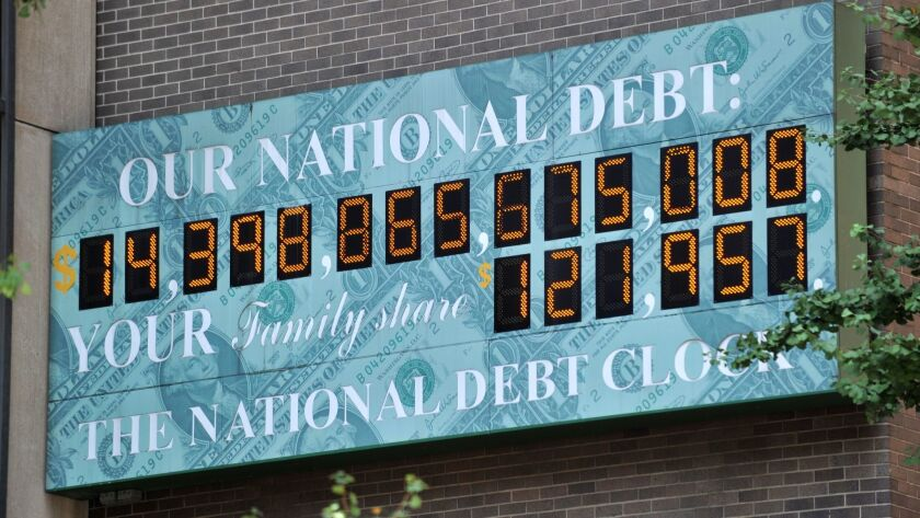 The National Debt Clock in New York City on July 26, 2011.