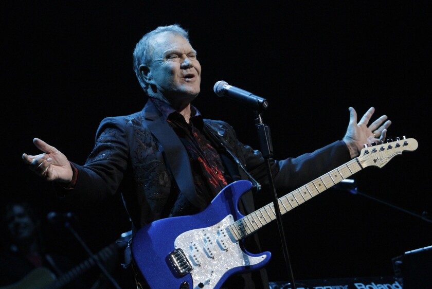 Glen Campbell, shown performing in 2011 at Club Nokia in Los Angeles, reportedly has been moved into an Alzheimer's disease care facility.