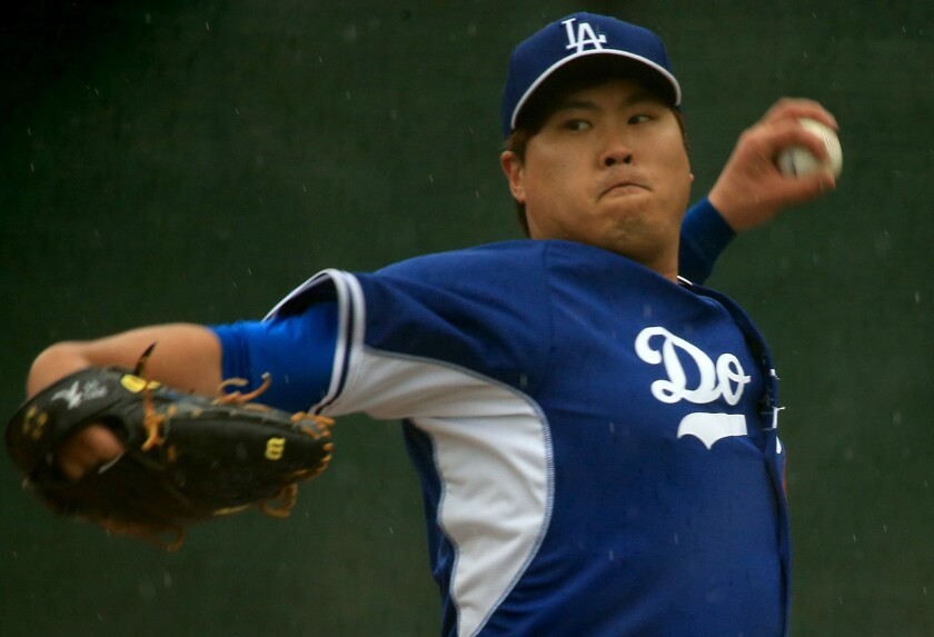 Dodgers left-hander Hyun-Jin Ryu missed the entire 2015 season after undergoing shoulder surgery.