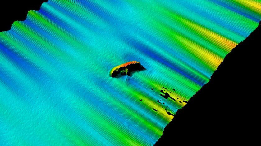 Electronic-data image of the wreck