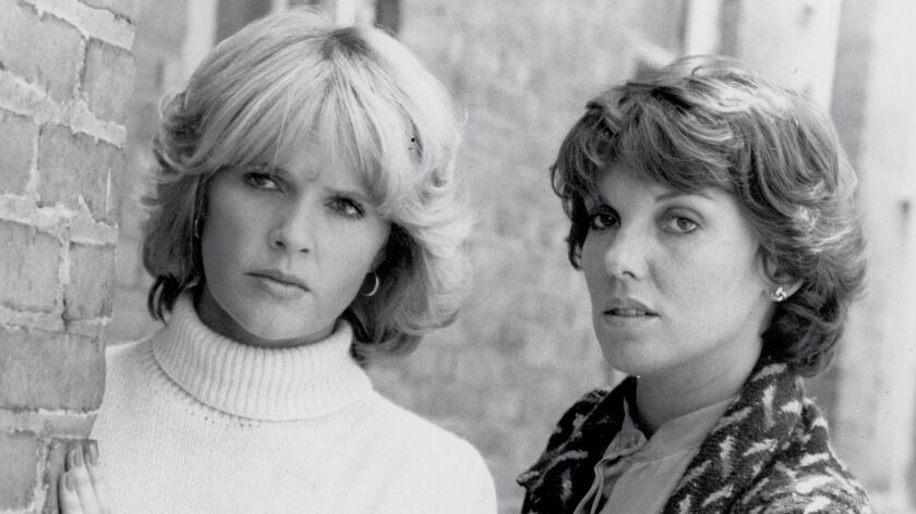 CA.0527.CAGNEY.1 – en–crime. 1982 file photo of Sharon Gless (l) and Tyne Daly in CAGNEY & LACEY.