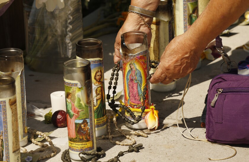 Candles at Santa Barbara memorial