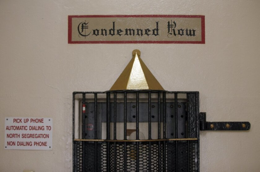 death row prison door