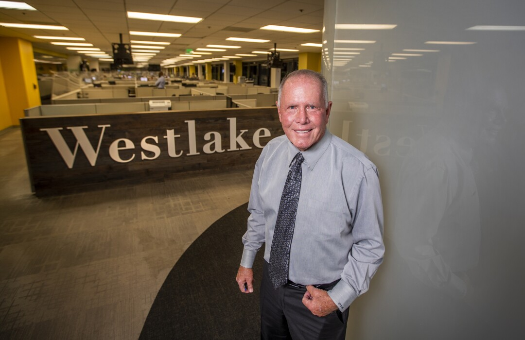 Don Hankey at the headquarters of his Hankey Group, Westlake Financial Services offices.