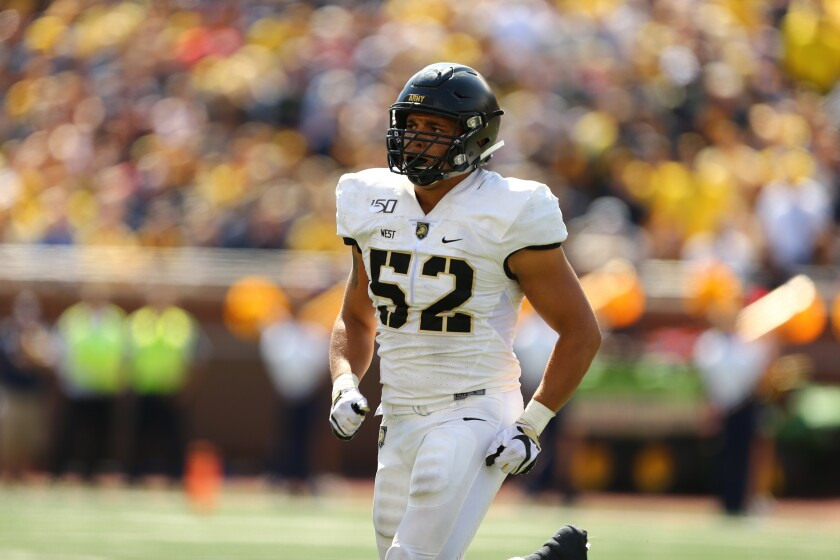 Amadeo West is a captain for Army football's team.