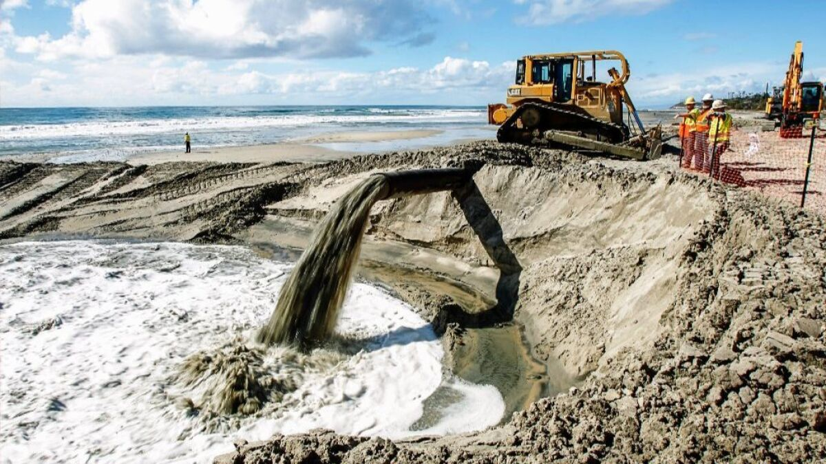 Sand replenishment begins at Cardiff State Beach - The San