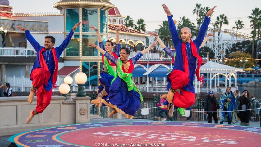Blue 13 Dance Company at Disney Festival of Holidays at Disney California Adventure.