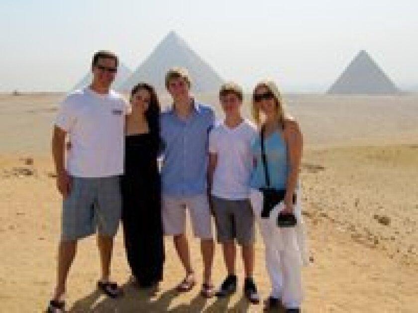 The Hughes family: (l-r) Jason, Star, Tucker, Bailey and Shay.