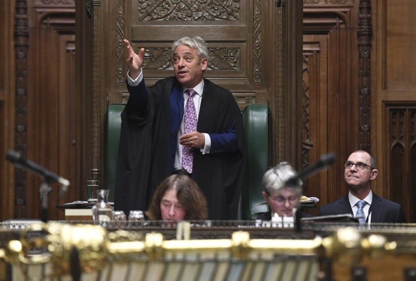 Britain Bercow's Goodbye
