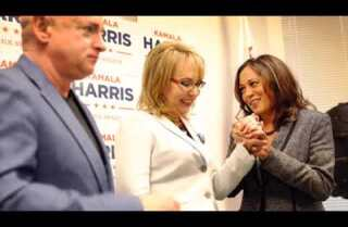 Gabby Giffords and husband Mark E. Kelly endorse U.S. Senate candidate Kamala Harris