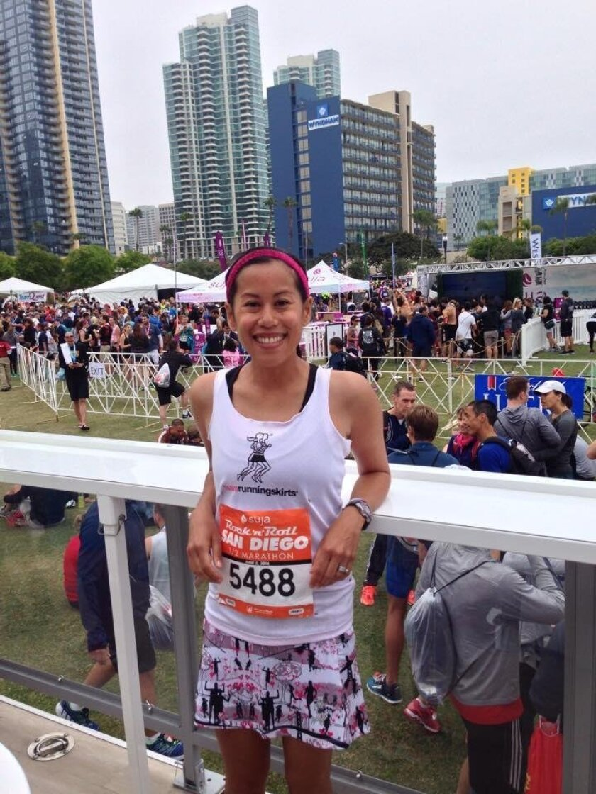 La Jolla resident Cheryl Hile after a recent San Diego Rock 'n' Roll Half Marathon