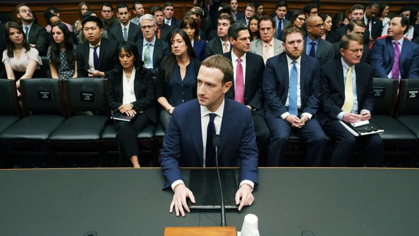 Facebook CEO Mark Zuckerberg arrives April 11 to testify before a House Energy and Commerce Committee hearing on Capitol Hill. The company's chief operating officer, Sheryl Sandberg, is set to testify before Congress next week, along with Twitter CEO Jack Dorsey.