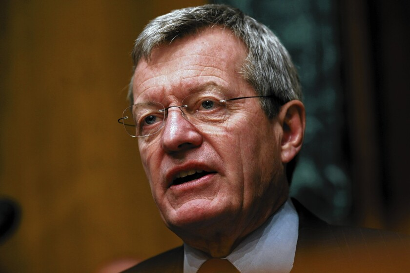 Six-term Sen. Max Baucus of Montana is the Democrats' second most senior member in the chamber. Were he to become ambassador to China, a Democrat would probably be appointed to replace him.