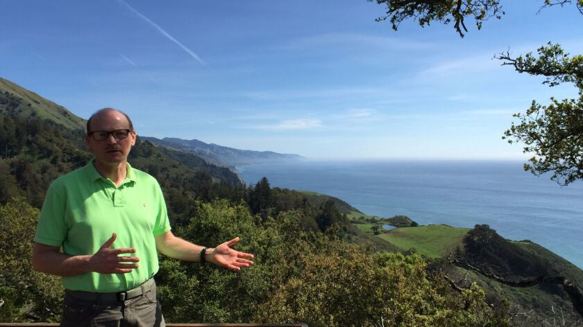 Kirk Gafill, owner of Nepenthe restaurant, is worried about losing millions of dollars now that his famous Big Sur tourist destination, known around the world for its spectacular views, has been forced to close.